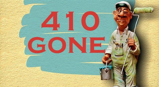 La formula segreta del 410 gone: elimina le pagine del sito