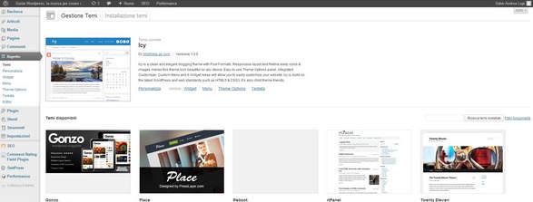 Aspetto sito wordpress