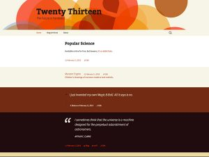 tema twenty thirteen