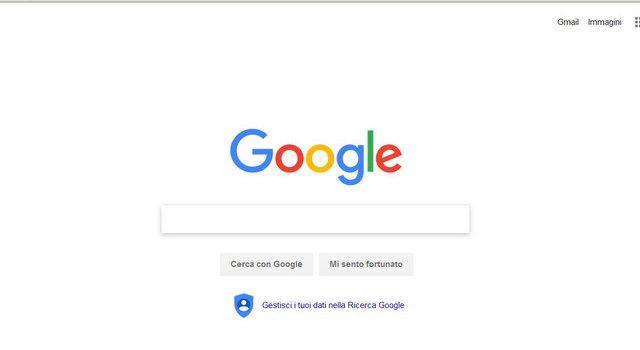 Google pagina iniziale