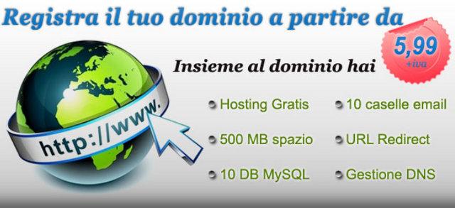 Registrazione dominio su DominOK