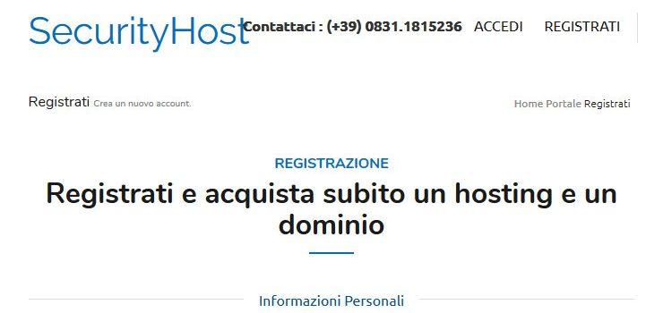 SecurityHost recensione hosting e opinioni